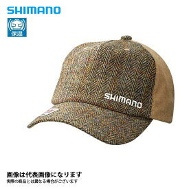 CA-071Q ツイード キャップ ブラウン F シマノ 釣り 防寒着 帽子 防寒 【処分特価】