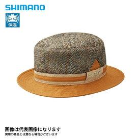 CA-078Q ツイード ハット ブラウン F シマノ 釣り 防寒着 帽子 防寒 【処分特価】