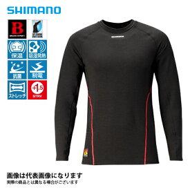 ブレスハイパー+℃ ストレッチアンダーシャツ(中厚タイプ) ブラック XLサイズ IN-040Q シマノ 釣り 防寒着 インナー 防寒 【処分特価】