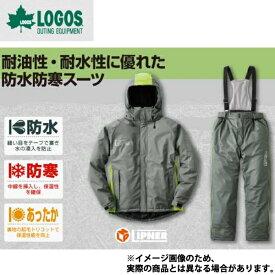 油に強い防水防寒スーツ サーレ LL グレー 30615211 ロゴス アウトドア 防寒着 上下セット 防寒