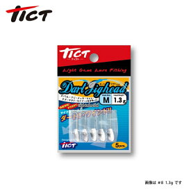 ダートジグヘッド #8-1.5g ティクト ライトゲーム ジグヘッド アジング メバリング
