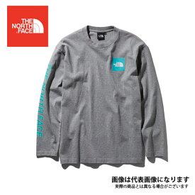 ロングスリーブスクエアロゴスリーブティー(メンズ) ミックスH M NT31951 ノースフェイス 長袖 Tシャツ