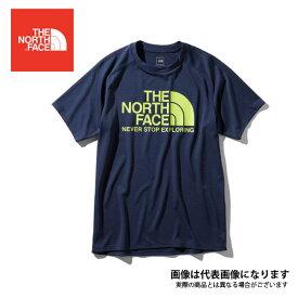 ショートスリーブGTDロゴクルー(メンズ) アーバンネイビー L NT31970 ノースフェイス Tシャツ UVカット アウトドア