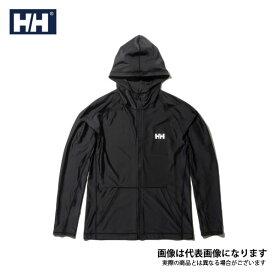【在庫処分特価】 ロングスリーブフルジップフーディーラッシュガード(メンズ) ブラック L HE81927 ヘリーハンセン 日焼け防止 暑さ対策アイテム