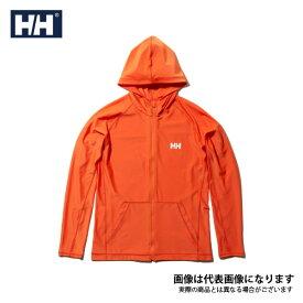 【在庫処分特価】 ロングスリーブフルジップフーディーラッシュガード(メンズ) Nオレンジ XL HE81927 ヘリーハンセン 日焼け防止 暑さ対策アイテム