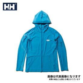 【在庫処分特価】 ロングスリーブフルジップフーディーラッシュガード(メンズ) スカイブル XL HE81927 ヘリーハンセン 日焼け防止 暑さ対策アイテム