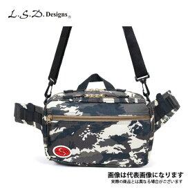釣り バッグ ウエストワンショルダー(オリジナルピンチシリーズ) カモ/ベージュジッパー LSDデザインズ フィッシング バッグ オカッパリ