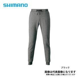 ライトスウェットパンツ ブラック Lサイズ WP-075S シマノ パンツ ウェア アウトドア 【処分特価】