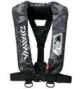 ダイワ ウォッシャブルライフジャケット(肩掛けタイプ手動・自動膨張)DF−2007〔ブラックカモ〕