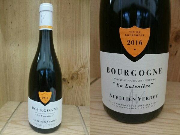 """赤:BRG:[2016] ブルゴーニュ ルージュ """"アン・リュトゥニエール""""(オレリアン・ヴェルデ) Bourgogne Rouge """" En Luteniere"""" (Aurelien Verdet)オーレリアン"""