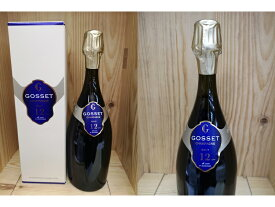 """箱付:[NV] ゴッセ """"ドゥゾン・ド・カーヴ・ミニマ"""" ブリュットGosset Champagne 12 ANS de Cave a Minima Brut"""