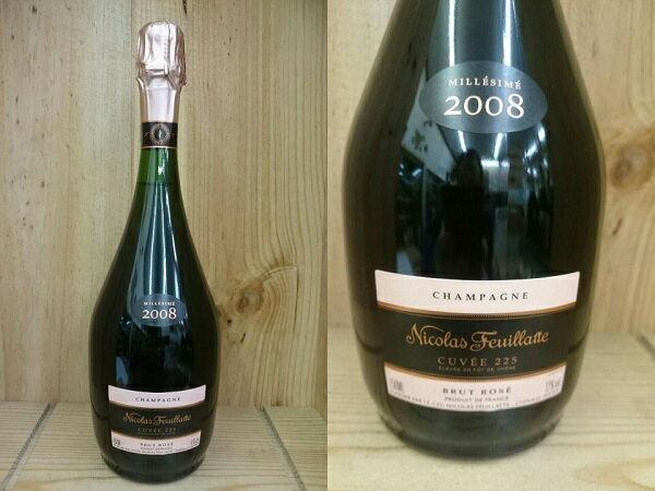 """ロゼ:[2008] ニコラ・フィアット """"キュヴェ225"""" ロゼ Nicolas Feuillatte Cuvee 225 Rose"""