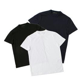 【7月4日-11日限定エントリーでポイント5倍】プラダ PRADA メンズトップス logo 3 pack T シャツ UJM492/ILK  ギフトラッピング無料