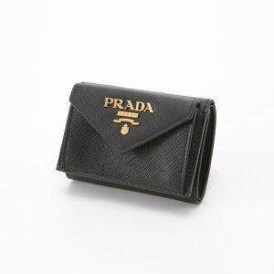 プラダ PRADA 折財布 三折りミニ折財布 1MH021-QWA  ギフトラッピング無料 ラッキーシール対応