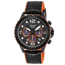 【10月20日限定★ポイント5倍】エンジェルクローバー ANGEL CLOVER 腕時計 タイムクラフトソーラー クロノ レザー×ラバーベルトMウォッチ TCD45BK-BK  ギフトラッピング無料