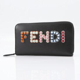 フェンディ FENDI マルチスタッズラウンド長財布 8M0299-A13J  ギフトラッピング無料
