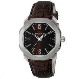 ブルガリ BVLGARI 腕時計 オクト ローマ アリゲーターレザーMウォッチ OC41C1SLD  ギフトラッピング無料