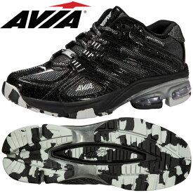 アヴィア A6812W BSM ブラック×シルバー(22.5〜28.0cm/レディース メンズ)【20SS07】 [AVIA] フィットネスシューズ アビア エアロ