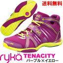 [RYKA]ライカ フィットネス TENACITY 〔パープル×イエロー〕 C8149M-C500(22.0〜28.0cm/レディース/メンズ)<テナシティー>【ダン…
