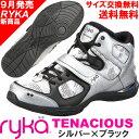 [RYKA]ライカ フィットネスシューズ TENACIOUS<テナシオス> E6643M-4001 〔シルバー×ブラック〕(22.0〜28.0cm/レディース/...