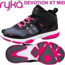 [RYKA]ライカ DEVOTION XT MID 〔ブラック×ピンク〕 F4334M-2002(22.0〜26.5cm/レディース/メンズ)<ディボーションエックスティー…
