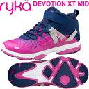 [RYKA]ライカ DEVOTION XT MID 〔ネイビー×パープルピンク〕 F4334M-2401(22.0〜26.5cm/レディース/メンズ)<ディボーションエック…