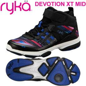 [RYKA]ライカフィットネス DEVOTION XT MID 〔ブラック/コスモ柄〕 F4334M-3003(22.0〜28.0cm/レディース/メンズ)<ディボーションエックスティーミッド>【ダンスシューズ】【19FW09】【正規品】/送料無料