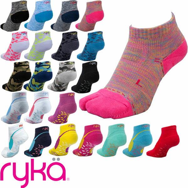 [RYKA]ライカ フィットネスシューズ専用ソックス 足袋型靴下(9cm丈 23-25cm レディース) 【メール便対応可】