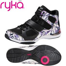 [RYKA]ライカフィットネス TENACIOUS 〔ブラック×マーブル柄〕 E6643M-O006(22.0〜28.0cm/レディース/メンズ)<テナシオス>【ダンスシューズ】【20SS04】【正規品】