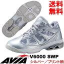 [AVIA]アビア フィットネスシューズ V6000 SWP〔シルバー/プリント柄メッシュ〕(22.0〜28.0cm/レディース/メンズ)【16FW09】【アヴ…