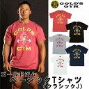 ゴールドジムウェア ベーシックTシャツ クラシックJ (M・L・XLサイズ) 【当店在庫品/メール便対応可】 [GOLD'S GYM_W]