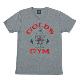ゴールドジムウェア ビンテージVネックTシャツ X002 (M・L・XLサイズ)[GOLD'S GYM_W] 筋トレ ボディビル