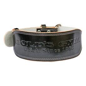 ゴールドジム EXレザーベルト ブラック(XS・S・M・L・XLサイズ) [GOLD'S GYM_G] 筋トレ トレーニングベルト