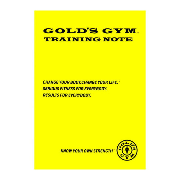 ゴールドジム トレーニングノート 【メール便対応可/当店在庫品】 [GOLD'S GYM_G]
