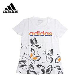 アディダス 白Tシャツ(レディース/Mサイズ) FARM P AOP ちょうちょ柄 [adidas]※返品・交換不可セール商品※