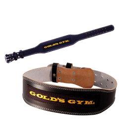 ゴールドジム ブラックレザーベルト [GOLD'S GYM_G] 筋トレ トレーニングベルト