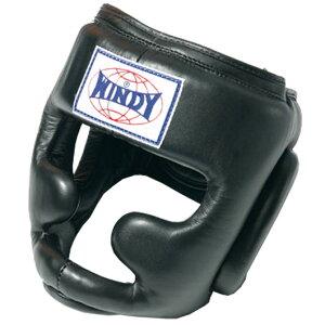 【アッパーや膝蹴りから守るあごガード付き】WINDY(ウィンディ)ヘッドガード(スタンダード)Lサイズ HP-3