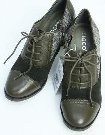 クーポン配布中 【キスコ】【KISCO】【あす楽】【ギフト対応】 ツィード×羊革トラッドシューズ レディース ファッション 靴