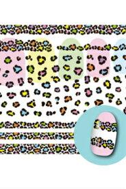 【送料込み】【BN51187583】ビーエヌ/ネイルシール BSC-08 ヒョウ柄ビビット ネイルシール 秋 冬 レオパード アニマル ひょう