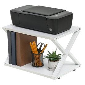 プリンター台 卓上 プリンターラック 机上ラック 机上収納 プリンタの下に用紙やインクを収納可
