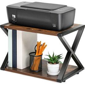 FITUEYES プリンター台 プリンターラック 机上ラック 机上収納 プリンタースタンド プリンターおき台 プリンター台 卓上 プリンタの下に用紙やインクを収納可