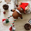 FADプラッシュトイ・ウィズロープ2019ホリデートナカイ犬用おもちゃ