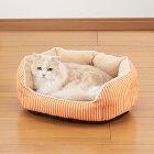 【4/17より順次発送】ボンビアルコンラウンドクッションオレンジ犬猫用