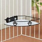 アニーコーラスグルメラックシングルブラック犬猫用ペットサークル用食器台