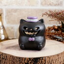 ハロウィン飾りLEDキャンドル付き!黒猫キャンドルホルダー【グリーンハウス陶器製キャット雑貨グッズオーナメントかわいい】