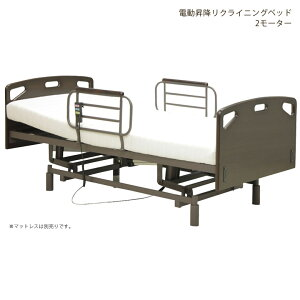 8日18時よりポイント10倍 電動昇降リクライニングベッド 介護用 電動ベッド リクライニングベッド 介護ベッド ベッド シングル おすすめ 高さ調整 サイドガード付き フレームのみ ベッドフ