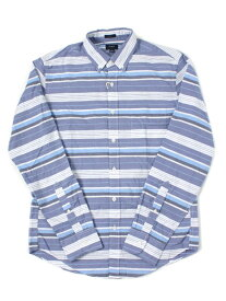 【MEGA SALE】J.CREW SLIM MULTISTRIPE WASHED SHIRT【JCW15A-B8625BGM-BLUE】