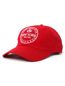 NEW HATTAN NYC 6PNL COTTON CAP【NH-NY03-1403RED-RED】