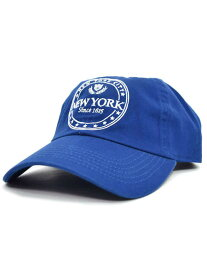 NEW HATTAN NYC 6PNL COTTON CAP【NH-NY03-1413RYL-ROYAL】