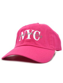 NEW HATTAN NEW YORK CITY 6PNL COTTON CAP【NH-NY02-1420HPK-HOT PINK】